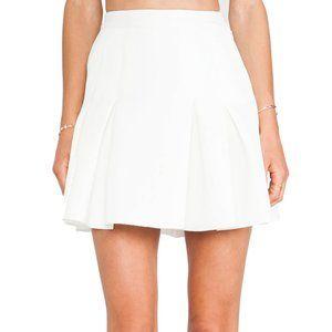 Rachel Zoe Indio Neoprene Skirt - Winter White